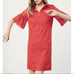 ❤️BANANA REPUBLIC lace shift dress flutter sleeve